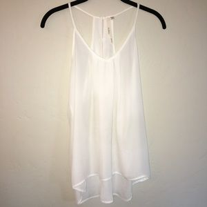 Bellatrix Sheer White Tank Top Size XS